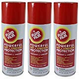 (Fluid Film TPAS11 Powerful Rust & Corrosion Protection, Penetrant and Lubricant for Corrosion Control, Penetration, Metal Wetting and Water Displacement, 11.75 Ounce (3 Aerosol Spray Cans))