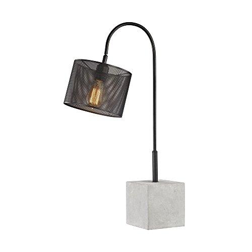 Elk Lighting D3139 Scotland Yard Table Lamp Black, Polished Concrete ()