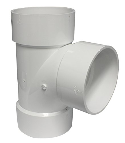 (Canplas 192156 PVC DWV Sanitary Tee, 6-Inch, White)