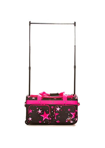 Original Rac N Roll 2.0 Competition Dance Bag with Garment Rac (Large, Pink Star)