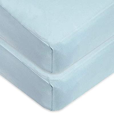 American Baby Company 100% Cotton Value Jersey Knit Crib Sheet, Blue, 2 Count