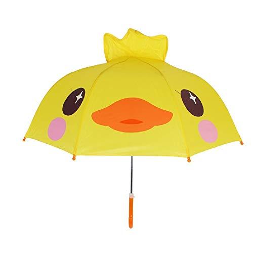 Spring Color Adorable and Durable Kids Umbrella - Children's Rainy Day Umbrella (Yellow Duck)