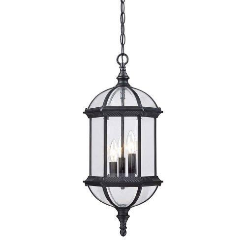 Dover Hanging (Acclaim 5274BK Dover Collection 3-Light Outdoor Light Fixture Hanging Lantern, Matte Black)