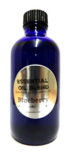 Mels Candles Blueberries Scent- 4 Oz Cobalt Blue GLASS Bo...