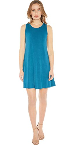 Mini Sleeveless Bra - Rohb by Joyce Azria Seville Sleeveless Mini Swing Dress (Corsair Blue) Size M