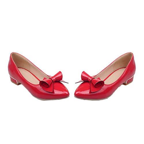 Légeres Bas Femme AalarDom Matière Chaussures Rouge Talon Couleur Unie Mélangee à TSFDH005688 wOwqzAdt