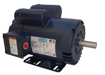 5HP 3450rpm 145T 230V Replacement Air Compressor Motor Leeson Electric Motor # (Single Phase Electric Motor)