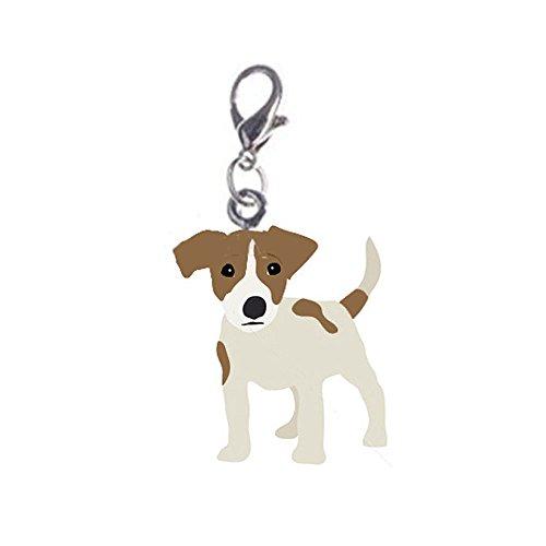 BBEART Dog Key Ring, 2 Pcs Metal Key Chain Mini Portable Dog Shape Collar Pendant (Jack Russell)