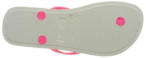 Ipanema Animal Print Ii Fem - Sandalias de dedo Mujer Blanco (White/Pink)