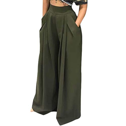 OLUOLIN Women's Stretchy Baggy Yoga Maxi Wide Leg Loose Trousers Flowy Beach Pants - http://coolthings.us