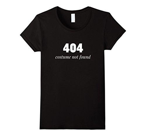 Womens Funny Geeky Halloween 404 Error / Missing Costume Shirt Small Black - Geeky Halloween Costumes Female
