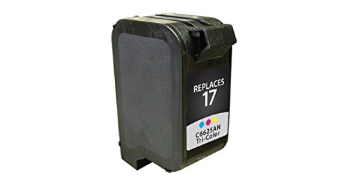 Inksters Remanufactured Ink Cartridge Replacement for HP 17 Tri-Color, C6625AN (HP 17)