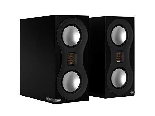 Monitor Audio Studio Premium Bookshelf Loudspeaker Pair Black ()