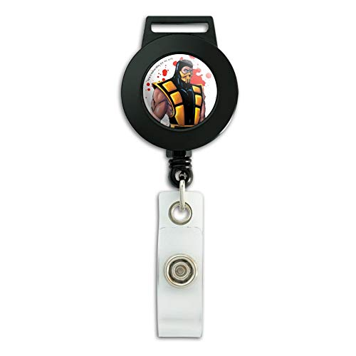 Mortal Kombat Klassic Scorpion Character Lanyard Retractable Reel Badge ID Card Holder