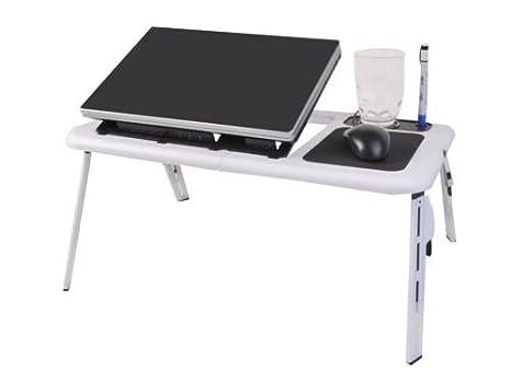 Bandeja de mesa plegable para ordenador portátil escritorio ventilador de refrigeración w/Tablet soporte de escritorio Cama Sofá Sofá: Amazon.es: ...