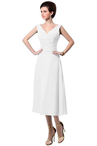 Mother Chiffon Neck Women The Dresses Dora Bridal Bride Of White amp;Acute;s V XOY6w4waq