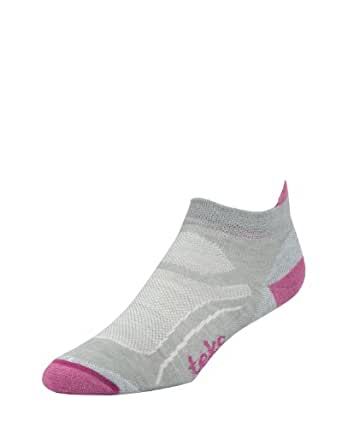 Teko Women's EVAPOR8 Light Low Cross Training, Cycling and Running Socks, Moonmist/Foxglove, Large