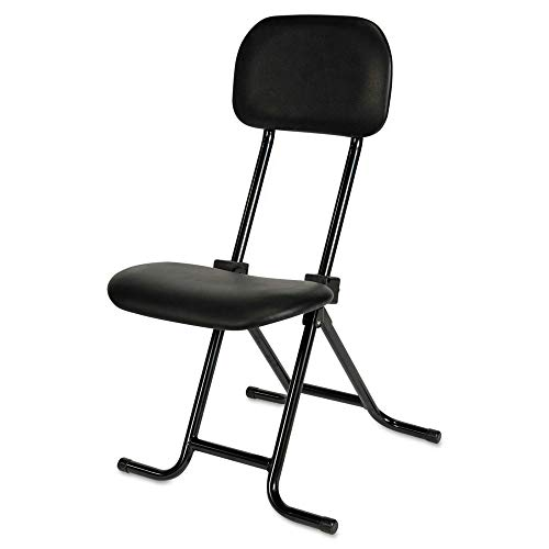 Traditional Counter Series - Alera Plus CS612 IL Series Height-Adjustable Folding Stool, Black