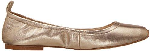 Nine West Mujeres Zdeno Metallic Ballet Flat Light Gold