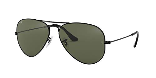 Ray-Ban Sunglasses - RB3025 Aviator Large Metal / Frame: Black Lens: Gray Polarized (62 mm)