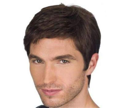 FCHW Heat Resistant Hairpieces Men's Wig Short Hairstyles Synthetic Wigs For Men Short Pixie Cut Hair Wig Popular Fashion Wigs FCHW-QB-18JF001061