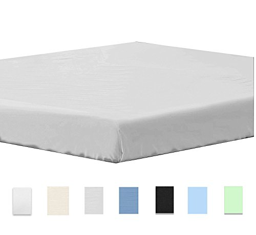 Fitted sheet Queen Grey - Deep Pocket Brushed Microfiber Sheets, Breathable, Extra Soft Bedsheet and Comfortable - Wrinkle, Fade, Stain and Abrasion Resistant - by Design N Weaves