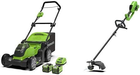 Greenworks Tools 2504707UC Cortacésped Inalámbrico + Recortador ...
