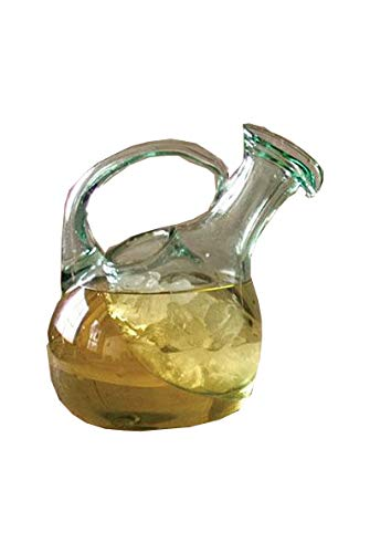 Kalalou CRL4047 Tilted White Wine Decanter With Ice Pocket, One Size, Green