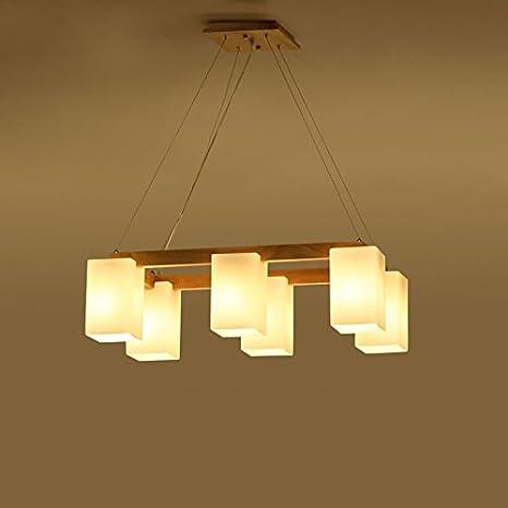 Araña $iluminación Lámparas para restaurantes, Woody Living ...