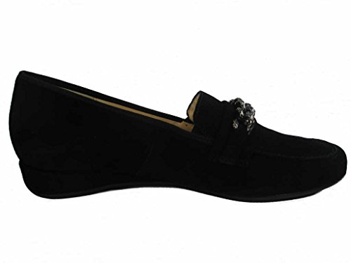 Hassia Women's 301775-0100 Loafer Flats Black T8wUqE04H6
