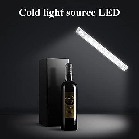 VIY Nevera vinos Vinoteca de 12 Botellas Luz LED Display Digital 6 Estantes Doble Aislamiento Zonas de Temperatura de 10-18 Grados Baldas Acero Inoxidable