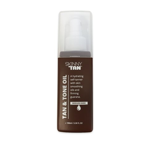 Skinny Tan Self-Tanning & Dark Tone Oil Spray for Women Made With Natural Tan Oil & Organic Ingredients - Long Lasting Sunless Tan Gives You a Beautiful Bronze Golden Tan - Perfect for All Skin (All About Skin Glow)