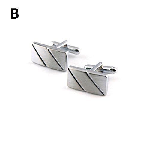 Pulisontm Vintage Mens Wedding Party Gift Shirt Cuff Links
