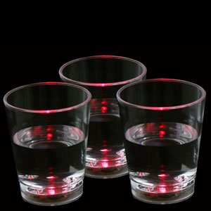 Fun Central G230 LED Light Up Liquid Activated Shot Glass - Red