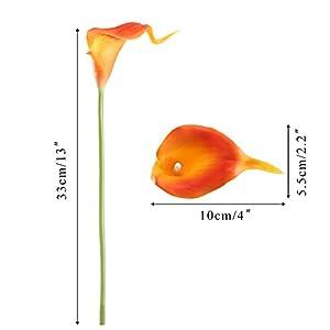 GTIDEA 20PCS Artificial Calla Lily Flowers 7