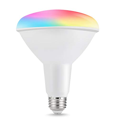LOHAS BR40 LED Smart Flood Light, Dimmable 100W-150W Equivalent Bulb E26, RGB Color Light Bulbs, Alexa WiFi Smartphone Controlled, 1450 Lumens Recessed Lighting for Kitchen