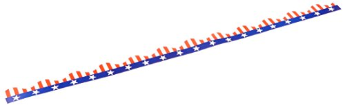 Beistle 50208 Patriotic Border Trim Party Accessory, (Red White Blue Border)