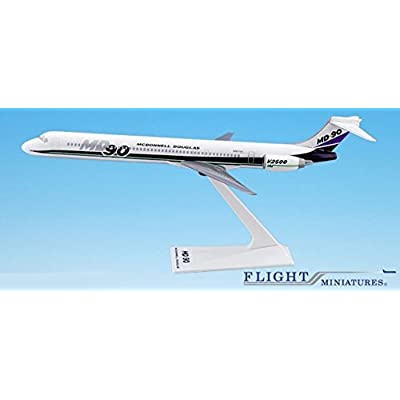 Mcdonnell Douglas Demo MD-90 Airplane Miniature Model Plastic Snap-Fit 1:200 Part# AMD-09000H-001: Toys & Games