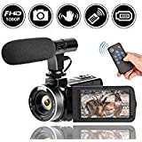 Full HD Camcorder 1080p Digital Camera 30FPS Video Camera for YouTube Vlogging Camera with...