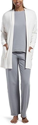 Hue Womens Cozy Cardigan Robe with Pockets Pajama Top