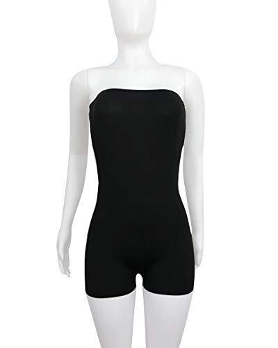 Mujeres ALIKEEY Hombro De Plausuit Party Solid Negro Mono Fuera del Sexy Moda SddW6p