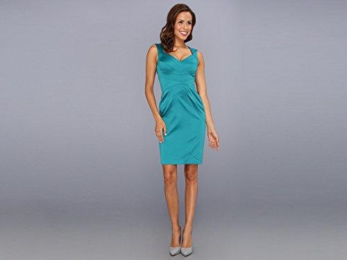 Jessica Simpson Women's Sleeveless Sunburst Pintuck Dress Everglade Dress 16