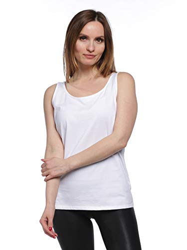 (August Silk Women's Tank Top - 5m19r810, White, Large)