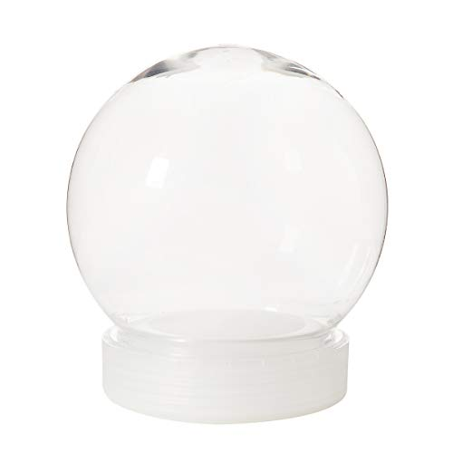 Diy Snow Globe (Darice 30066385 Make, Plastic, 130mm Waterglobe Kit,)