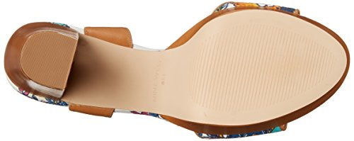 Bomba de la plataforma del cuero Nine West Clavel Medium Natural/Blue/Multi