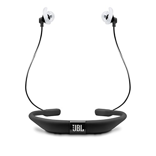 JBL Reflect Fit in-Ear Wireless Headphones with Heart-Rate Monitor (Black)