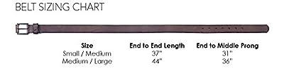 Luna Sosano Smooth Suede Western Vintage Belt with Big Antique Buckle - Premium