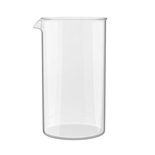 bonVIVO – Vaso de Recambio para Todas Las Prensas Francesas/Cafeteras Vendidas Comercialmente (1000 ml / 1.0 l / 34 oz)