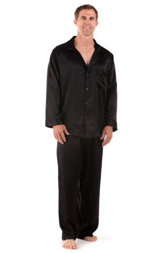 TexereSilk Men's Classic Silk Pajama Set (The Riviera) Luxury Sleepwear