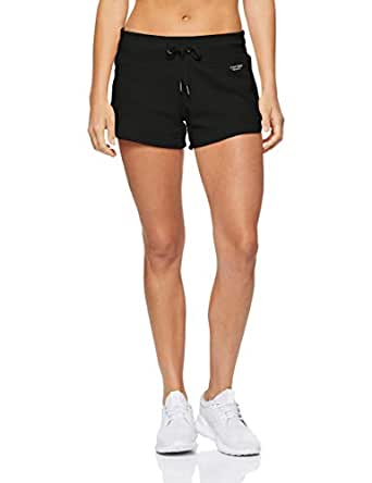 Calvin Klein Women's Curved Hem Shorts with Logo Tape, Black, XS
